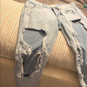 Pacsun dipped boyfriend jeans women's